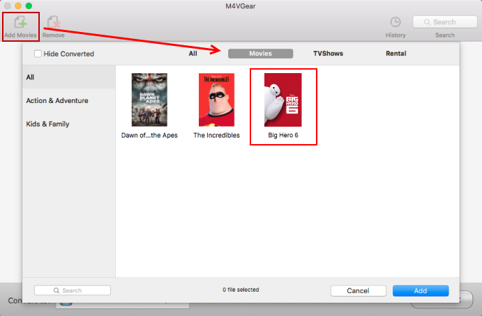 add itunes extras to M4VGear