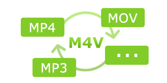 m4v to mp4, mov, mp3, etc