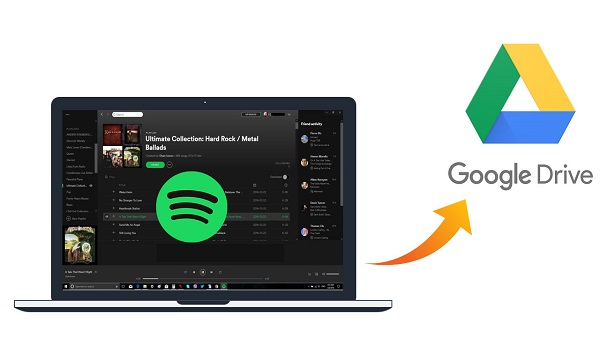 Upload Spotify music to Google Drive