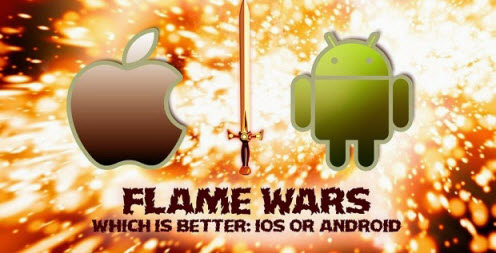 war between iphone and android